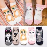 Низкие носки с котятами 3830