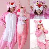 Кигуруми для взрослых пижамка Пантера розовая