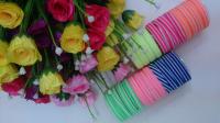 Набор из шести цветных резинок для волос