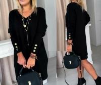 Туника платье ангора софт черное O114