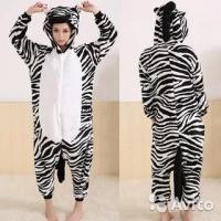 Кигуруми для взрослых пижамка Зебра