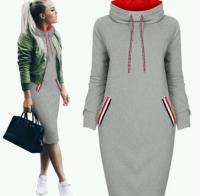 Спортивное платье утепленное св-серое RH
