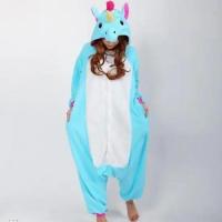 Кигуруми для взрослых пижамка Единорог голубой