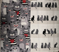 Вафельное полотенце с котиками 30х60