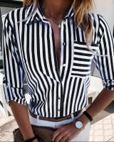 Рубашка черная полоса с кармашком A116 113