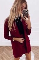 Костюм спандекс пиджак и юбка бордо K115 116 O114