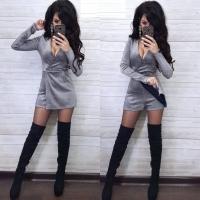 Платье-комбинезон люрекс песок серебро RX1-48