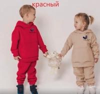 Детский утепленный ушки микки красный Xi