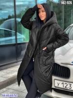 Болоневое пальто 902 чёрное SV