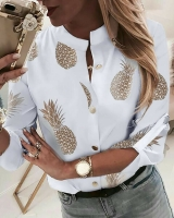 Рубашка без воротничка Ананасы A133 A116