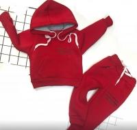 Детский утепленный с надписью красный Xi