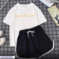 Шорты Size Plus и футболка MINIMAL белая SV