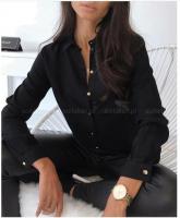 Рубашка 6106 лайт с кармашком черная KH
