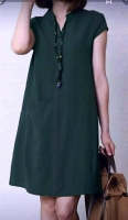 Платье барби с карманом Зеленое RH122