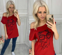 Свободная футболка Чмоки бордо IN156