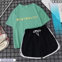 Шорты Size Plus и футболка MINIMAL фисташка SV