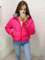 Куртка стойка ворот 1819 розовая DIM