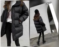 Удлинённая куртка черная H-203 SV ZI Новая цена