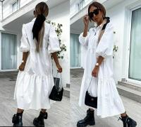 Платье лайт длинное белое Z109 133