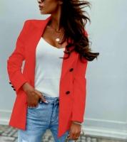 Пиджак с пуговицами красный A116