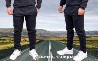 Мужские утепленные брюки темно-серые AN