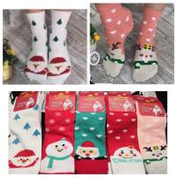 Высокие новогодние женские носки 2033