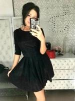 Платье люрекс песок черное A116