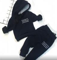Детский утепленный с надписью черный Xi