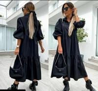 Платье лайт длинное черное Z109 112 133