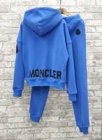 Костюм с надписью сзади MNCLR с капюшоном утепленный сине-голубой R4-123