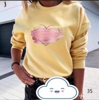 Кофточка закрашенное сердце желтая D31