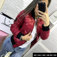 Куртка стеганая PP red wine M116