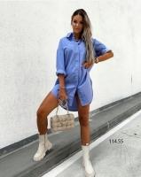 Туника лайт голубая O114