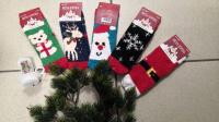 Детские махровые новогодние носочки 15-21 3887