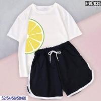 Шорты и белая футболка SIZE PLUS долька лимона SV