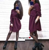 Платье барби бордо S111