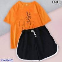 Шорты и оранжевая футболка девушка-весна SV