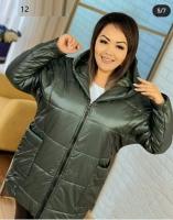 Куртка SIZE PLUS с карманами хаки UM29