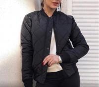 Стеганая куртка черная K115