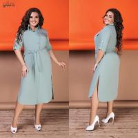 Платье-рубашка лайт SIZE PLUS дымка Rh122