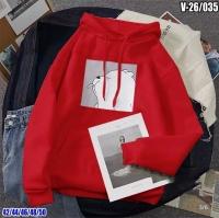 Свитшот с капюшоном Мишка дразнилка Красная V26 SV