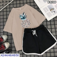 Шорты и футболка ананас каппучино SV