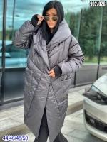 Болоневое пальто 902 Серое SV