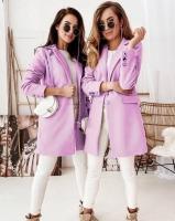 Пальто с кашемиром розовое A133