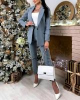Классический костюм пиджак и брюки Серый M116