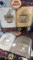 Набор из двух махровых полотенец кофе в коробке