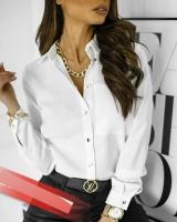 Рубашка с 1 карманом белая A133