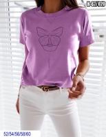 Футболка SIZE PLUS lady butterfly Сирень SV