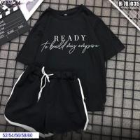 Шорты Size Plus и футболка READY черная SV