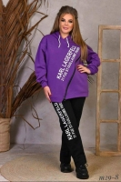 Костюм Size Plus на флисе KL с молнией фиолетовый M29